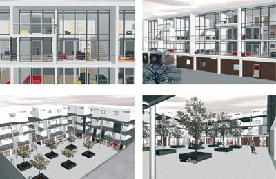 So könnte z.B. das neue Quartierszentrum aussehen (Projekt Karin Rothmayer)